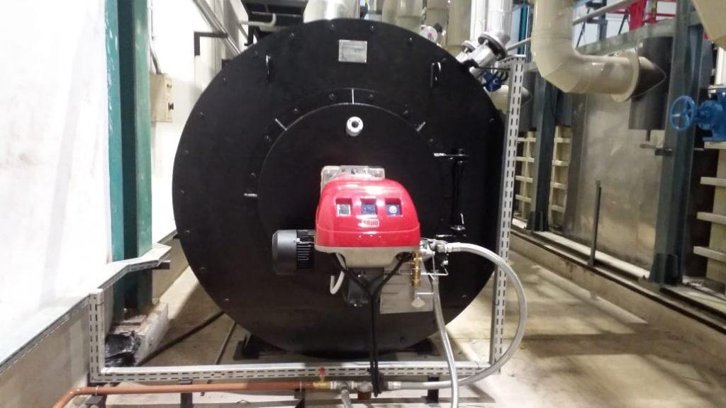 Fluida termal ini – juga disebut flu Thermal Oil Heater di mana minyak dipanaskan dari 100