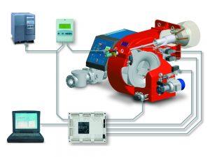 Automatic control gas burner