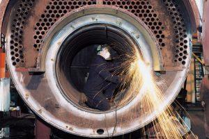 perbaikan pipa api boiler